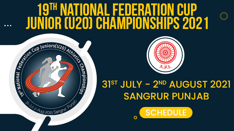 Circular for 19th National Fed Cup Jr Athletics Championships