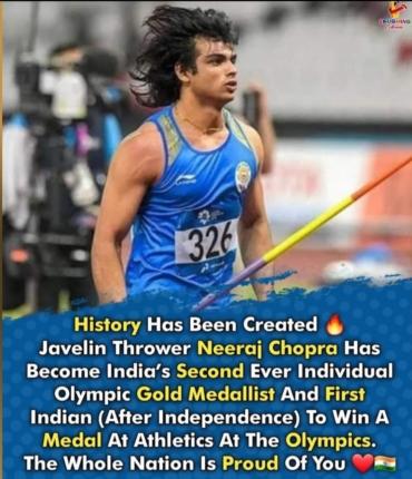 Heartiest congratulations to  Bajrang Punia (Men's Wrestling)& Neeraj Chopra(Javelin Throw) for winning Medals.